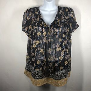 Knox Rose floral blouse size large